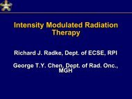 Intensity-Modulated Radiation Therapy - CenSSIS