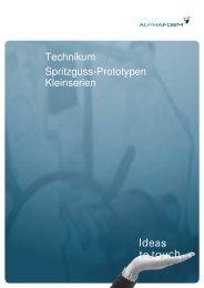 Technikum Spritzguss-Prototypen Kleinserien - Alphaform