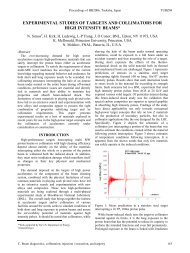Experimental Studies of Targets and Collimators for High Intensity ...