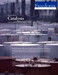 Catalysts - The Freedonia Group