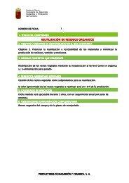 REUTILIZACIÓN DE RESIDUOS ORGANICOS ... - Proexport