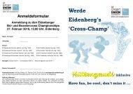 Ausschreibung - Sportunion Eidenberg