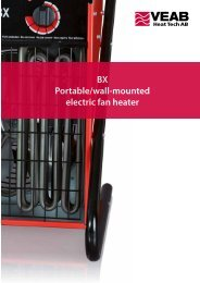 BX Portable/wall-mounted electric fan heater - VEAB Heat Tech AB