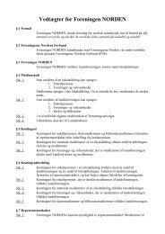 Vedtægter 2007 som pdf-fil - Aalborg - Foreningen Norden