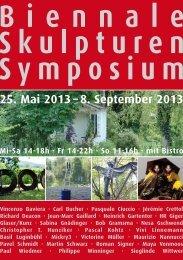 25. Mai 2013 – 8. September 2013 - biennale-skulpturen-symposium