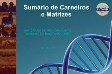 sumário de carneiro e matrizes 2010 - USP