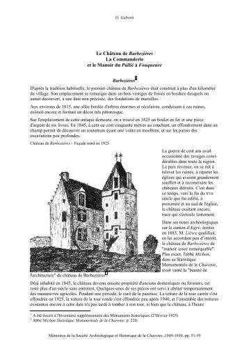 Le Château de Barbezières