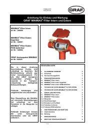 Einbauanleitung Minimax Filter - Zisterne - Shop