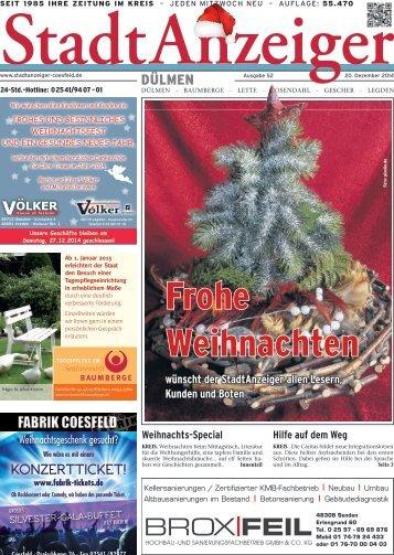 Stadt Anzeiger Dülmen Weihnachten