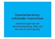 Sprachentwicklung: individuelle Unterschiede