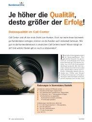 lesen Sie in diesem Beitrag - Callcenter-Profi