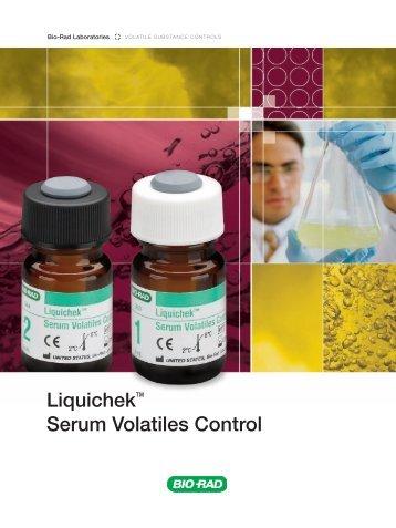 Liquichek™ Serum Volatiles Control - QCNet