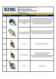 STP CATALOGUE Oil pressure switch