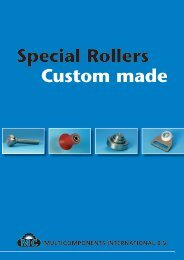 Special Rollers Custom made - MultiComponents International