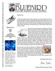 Newsletter November December 2012 - Evansville Audubon Society