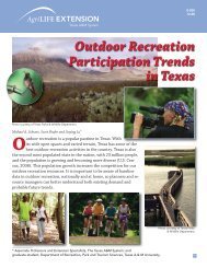 Participation Trends Outdoor Recreation in Texas - Trinity Waters