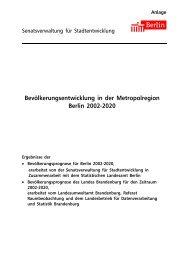 Bevölkerungsentwicklung in der Metropolregion Berlin 2002-2020