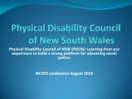 Learning from our experience to build a strong platform for ... - NCOSS