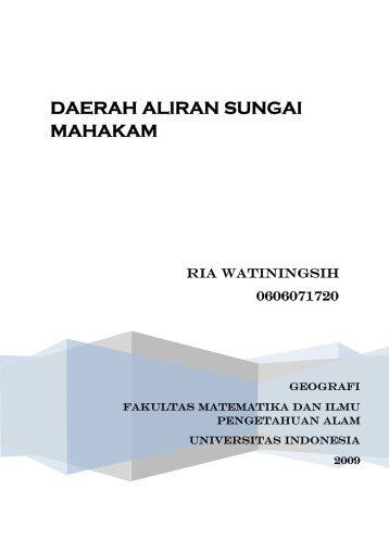 daerah aliran sungai mahakam - Blog Staff UI - Universitas Indonesia