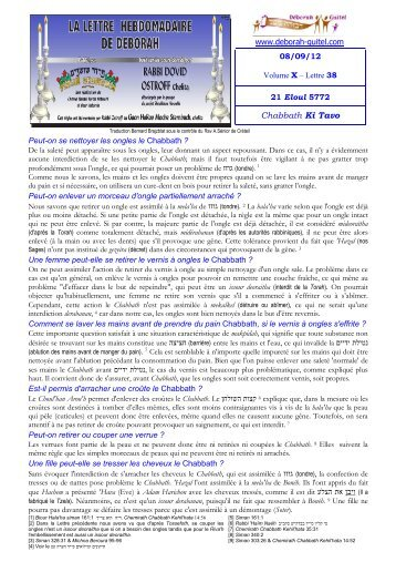Volume X - lettre n°38 - Association Deborah Guitel