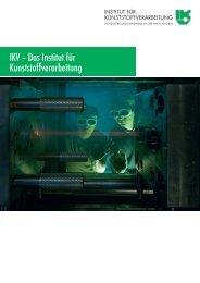 Download Institutsbroschüre - Institut für Kunststoffverarbeitung