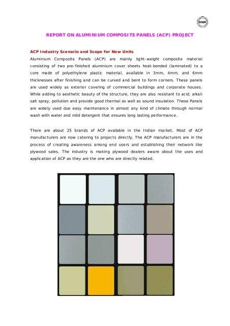report on aluminium composite panels (acp) project - Itcot com