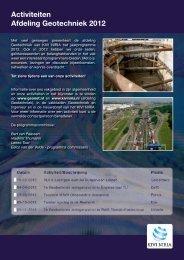 Activiteiten Afdeling Geotechniek 2012 - kivi niria