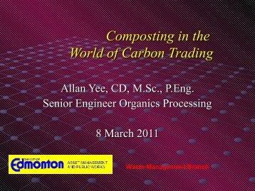 Allan Yee, City of Edmonton - Compost Council of Canada