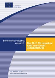 The 2010 EU Industrial R&D Investment Scoreboard - IRI - Europa