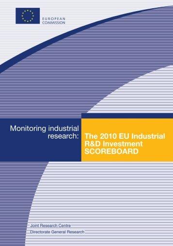 The 2010 EU Industrial R&D Investment Scoreboard - IRI - Europa