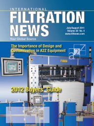 2012 Buyers' Guide 2012 Buyers' Guide - Filtration News