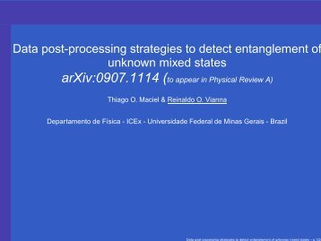 Data post-processing strategies to detect entanglement of ... - UFF