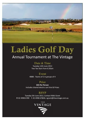 Ladies Golf Day - The Vintage