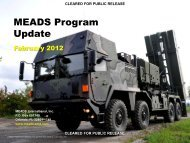 MEADS Program Update - The Medium Extended Air Defense System