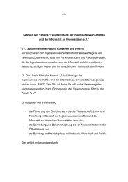"""- 1 - Satzung des Vereins """"Fakultätentage der ... - 4Ing"""