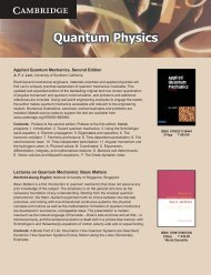 Quantum Physics.cdr - Cambridge University Press India