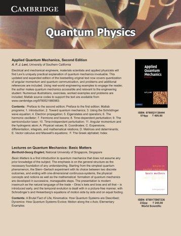 Quantum Physics.cdr - Cambridge University Press India