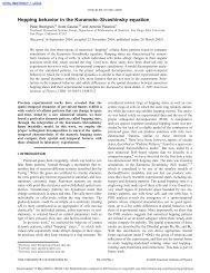 Hopping behavior in the Kuramoto–Sivashinsky equation
