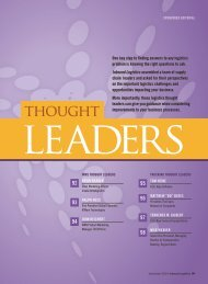 Inbound Logistics | Thought Leaders | Digital Edition