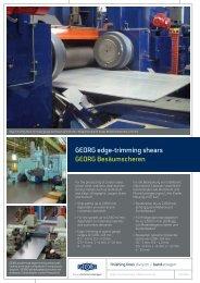 Besäumscheren - Heinrich Georg GmbH Maschinenfabrik
