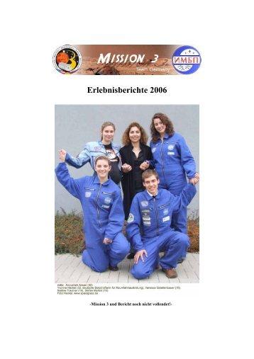 Erlebnisberichte 2006