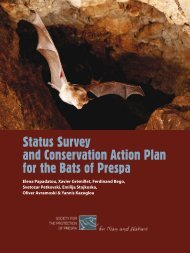 Status Survey and Conservation Action Plan for the Bats of Prespa