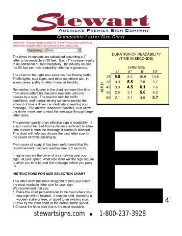 wired communication methods j m stewart signs changeable letter size selection chart j m stewart signs