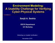 Environment Modeling: A Usability Challenge for Verifying Cyber ...