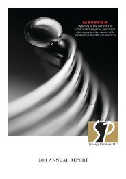 2011 Annual Report - Synergy Partners,LLC
