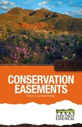 Conservation Easements, A Guide for Texas Landowners