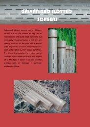 Galvanized slotted screens - pancera tubi e filtri srl
