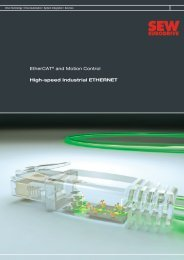 EtherCAT® and Motion Control High-speed ... - SEW-Eurodrive