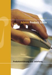 03 Ad_PrductGuide für PDF.InD - Adarvo ThemeWare