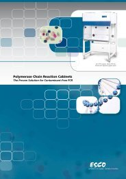 Polymerase Chain Reaction Cabinets - Esco Technologies, Inc.